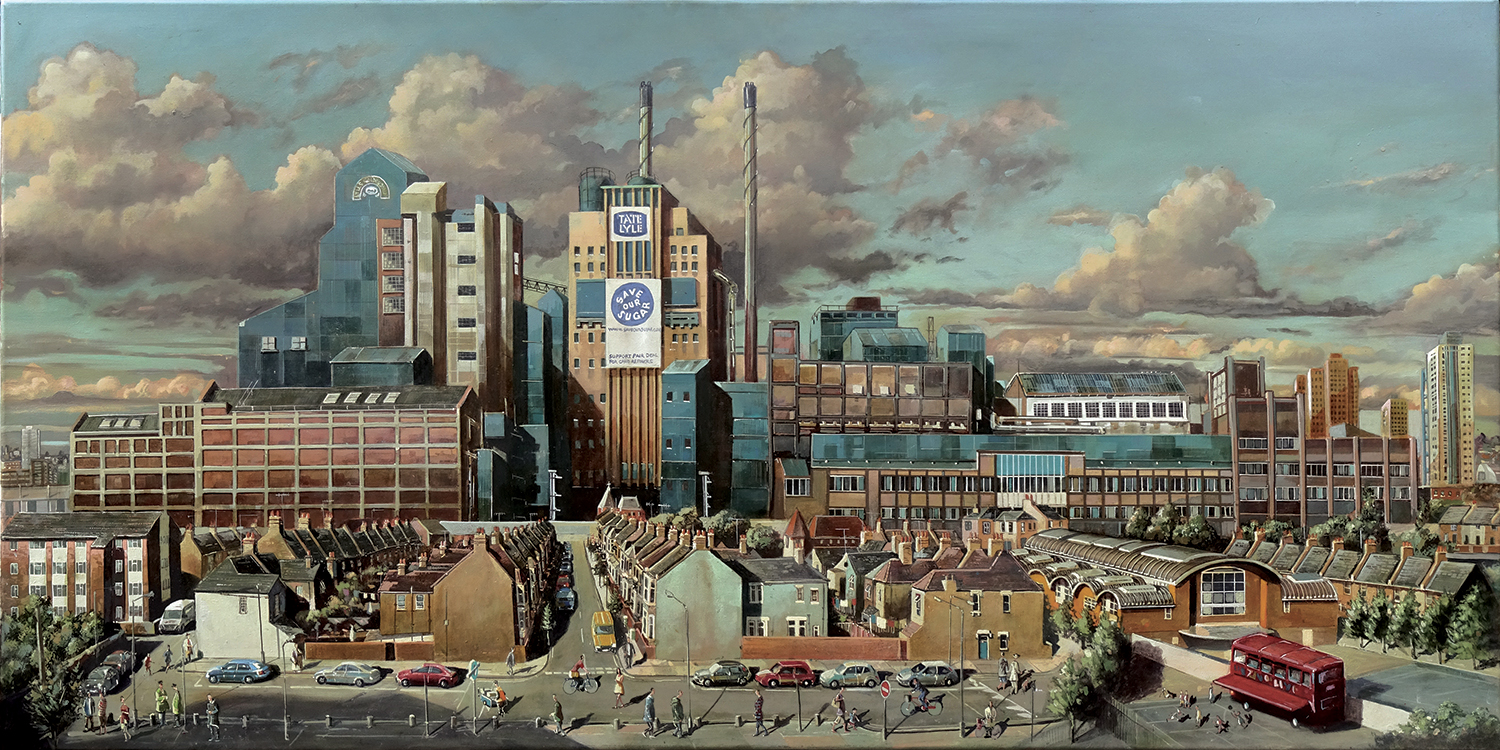 Painting of Tate and Lyle sugar factory London