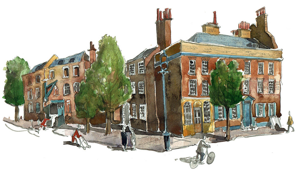 Painting of The Whitechapel Bell Foundry