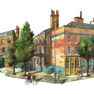 A Painting of The Whitechapel Bell Foundry London