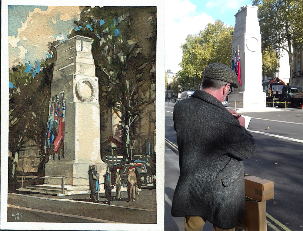 Cenotaph painting Postcard