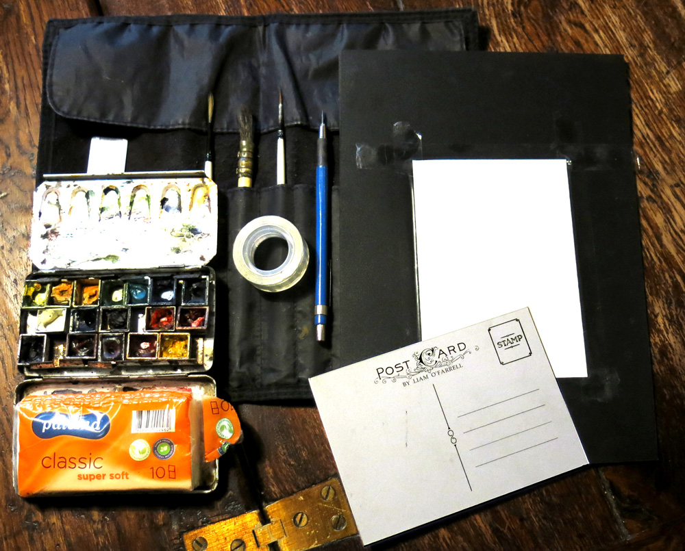 Painting a postcard kit
