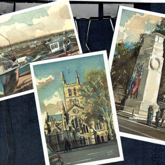 Painting your own postcards