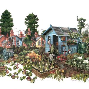 A painting of Waiting in an Allotment