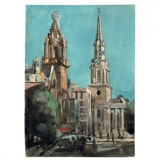 Painting of St Martins Lane London