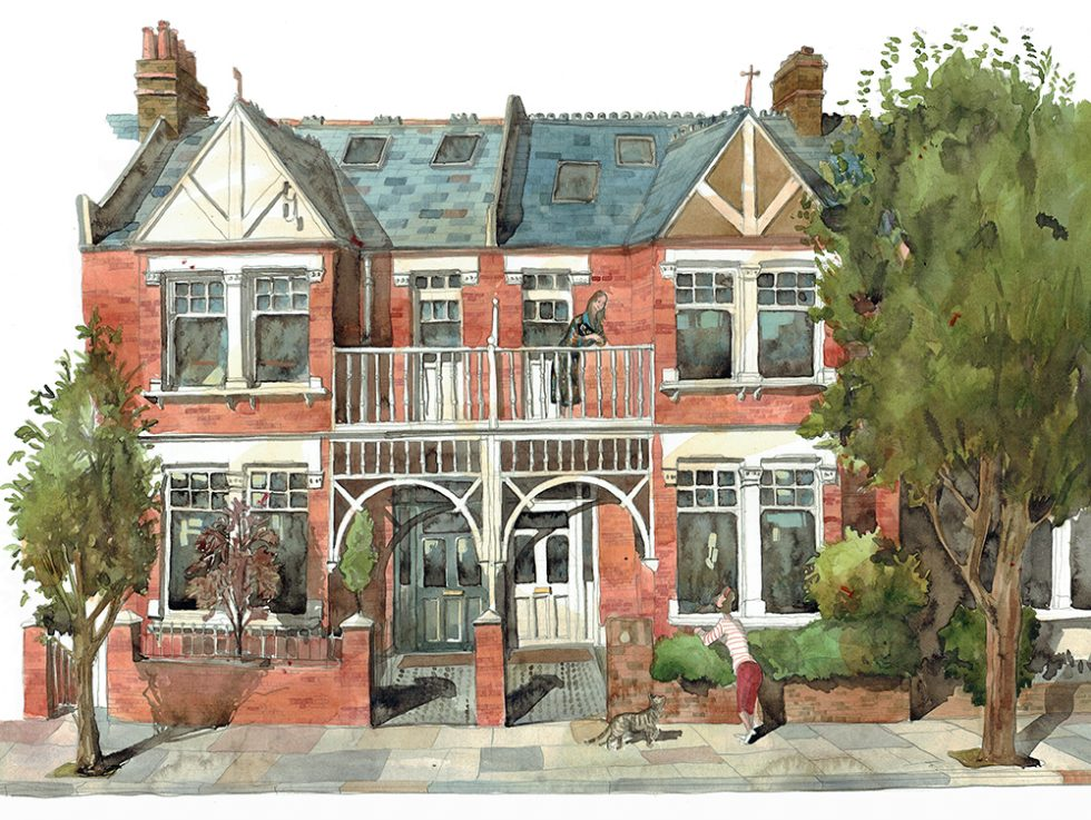 A painting of Barnes London