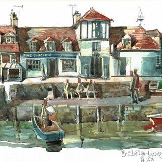 Painting of the Ship Inn Lymington