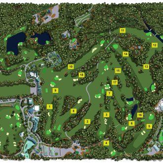 Illustration of Augusta National Golf Club
