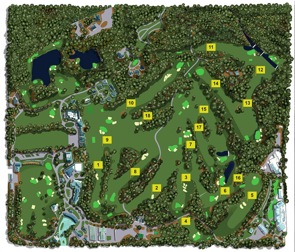 Illustration of Augusta National Golf Club