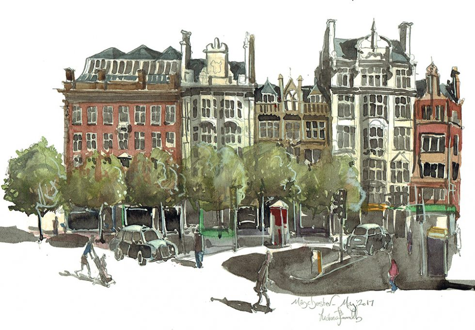 Manchester Picadilly painting