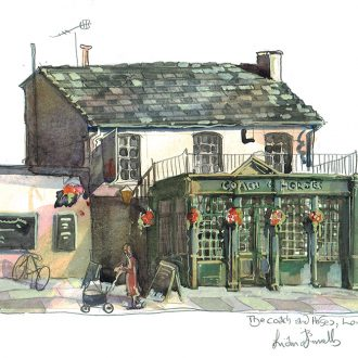 Painting of Coach and Horses pub Barnes