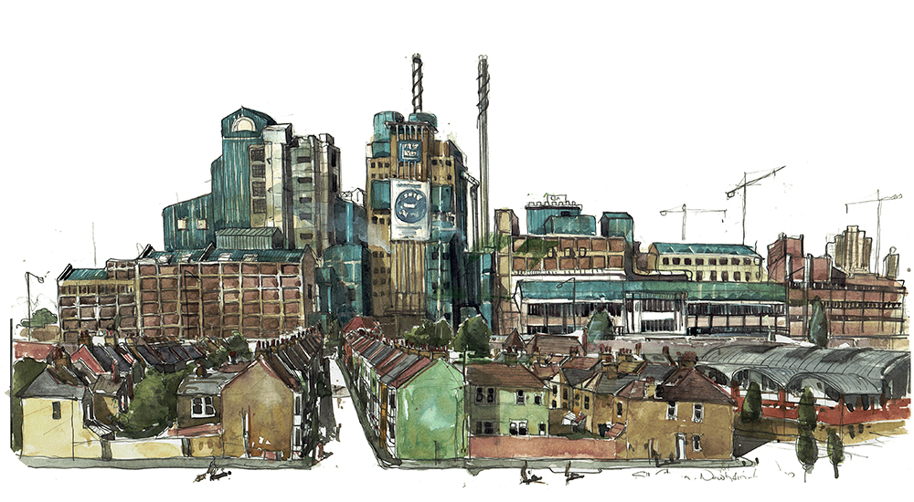 Tate and Lyle Sugarer refinery painting visual
