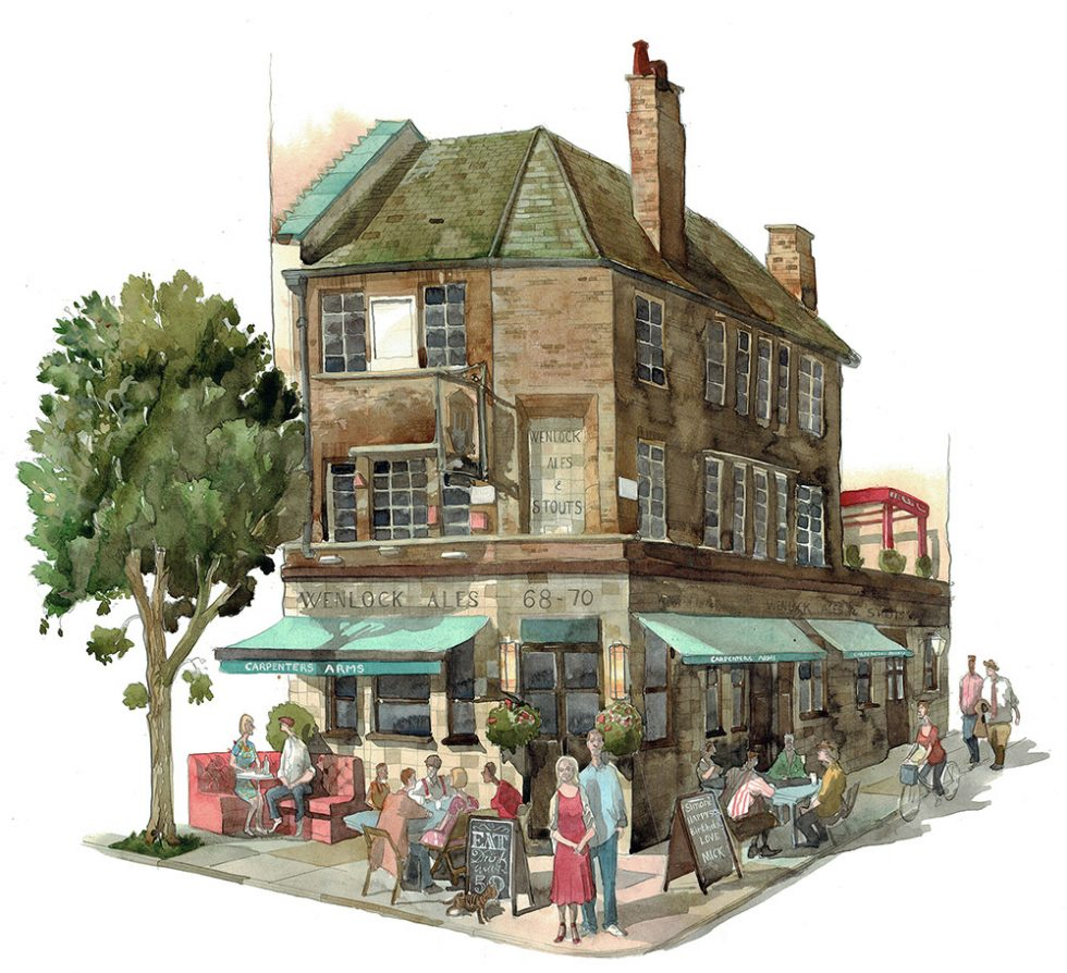 Painting of the Carpenters Arms London