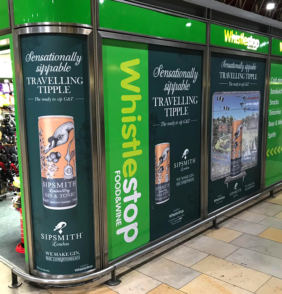 Sipsmith Gin Illustration on outdoor media