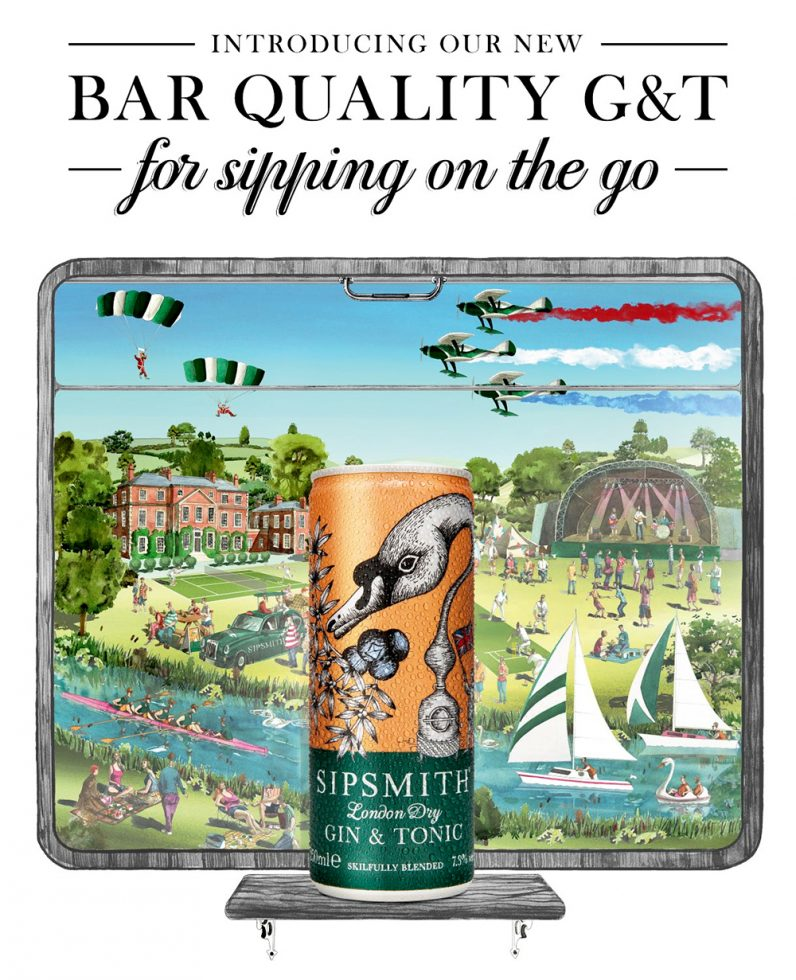 Sipsmith Gin Illustration