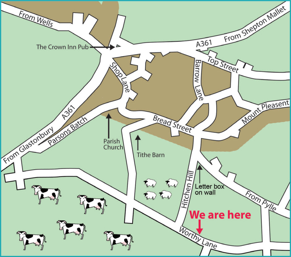 Map for Somerset Art Works