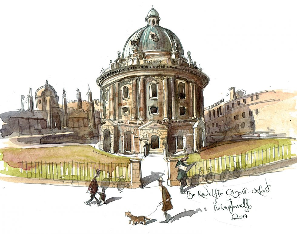 painting of The Radcliffe Camera, Oxford
