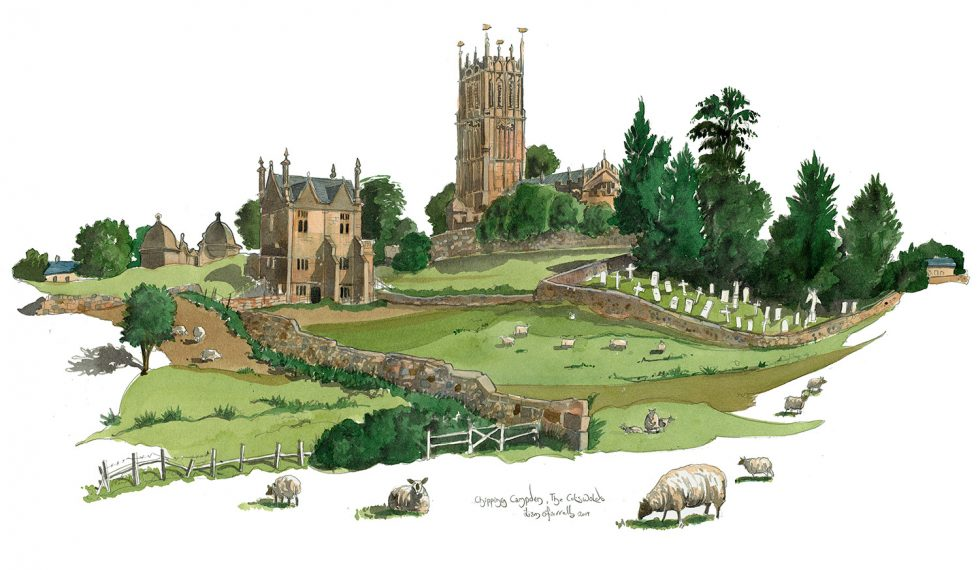 Chipping Campden St James Church Painting
