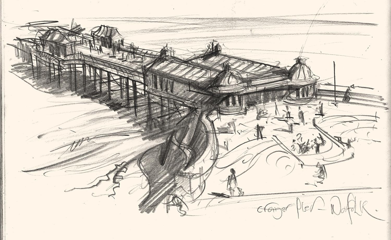 Cromer Pier drawing