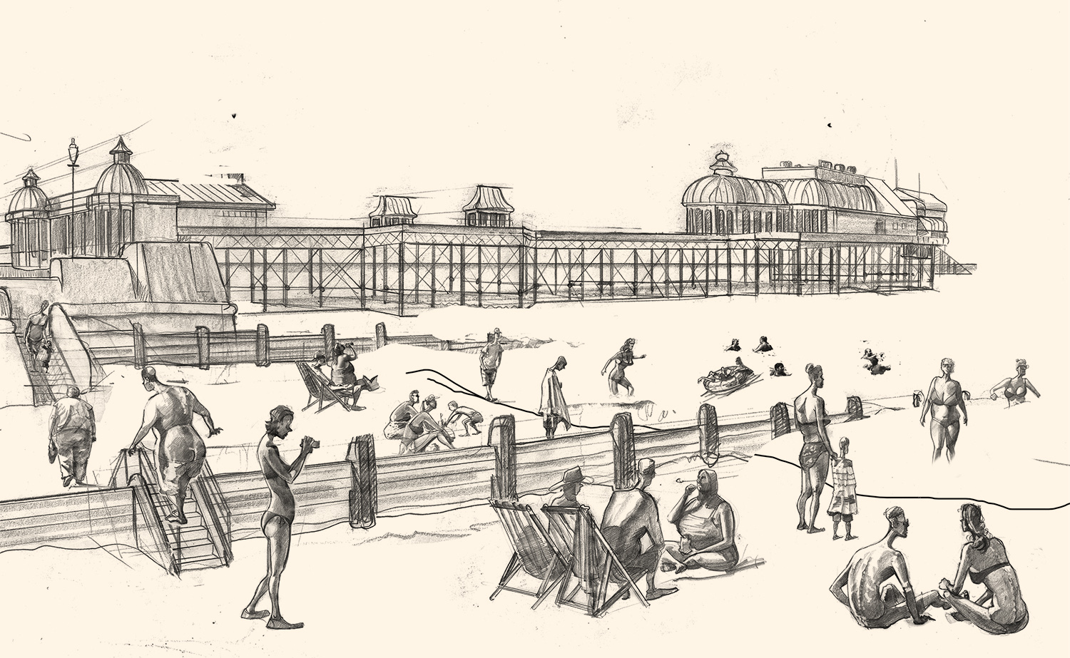 Drawing of Cromer Pier Norfolk