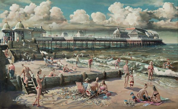 Painting of Cromer Pier Norfolk