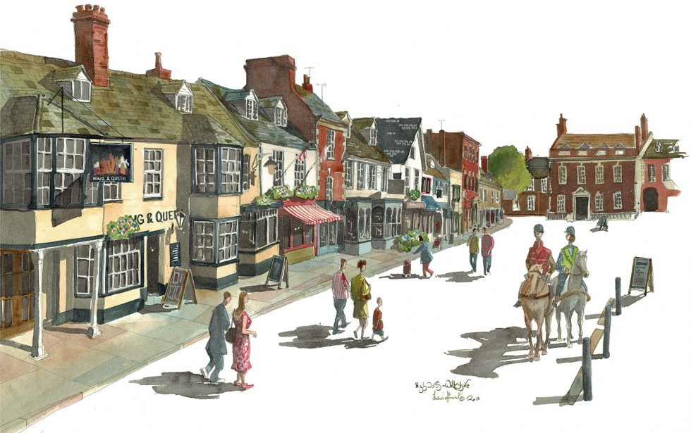 Painting of Highworth High Street