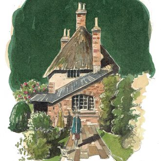 painting of Thomas Hardy's Cottage