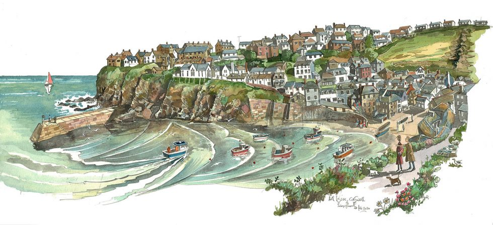 Painting of Port issac Cornwall