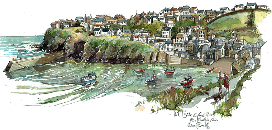 quick Painting of Port issac Cornwall