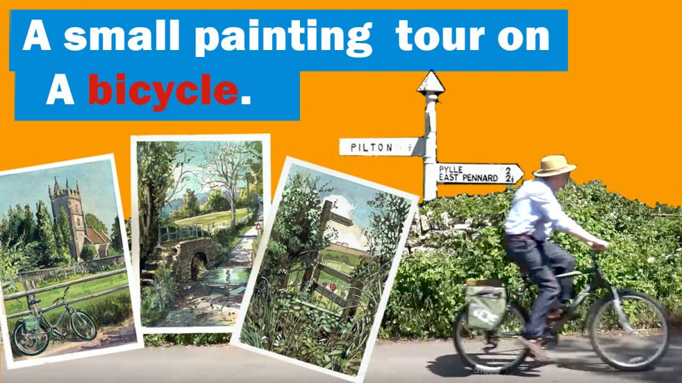 A painting tour on a bicycle