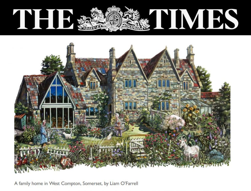 The Times Newspaper article on artists painting houses