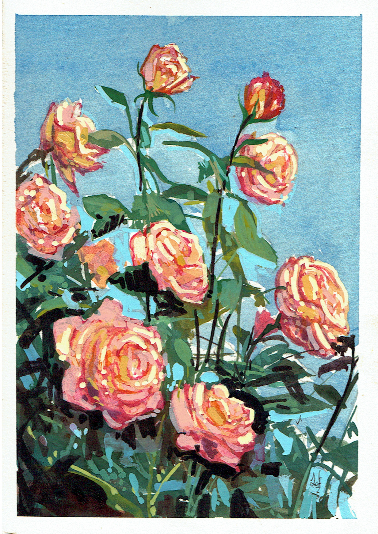 A painting of Roses
