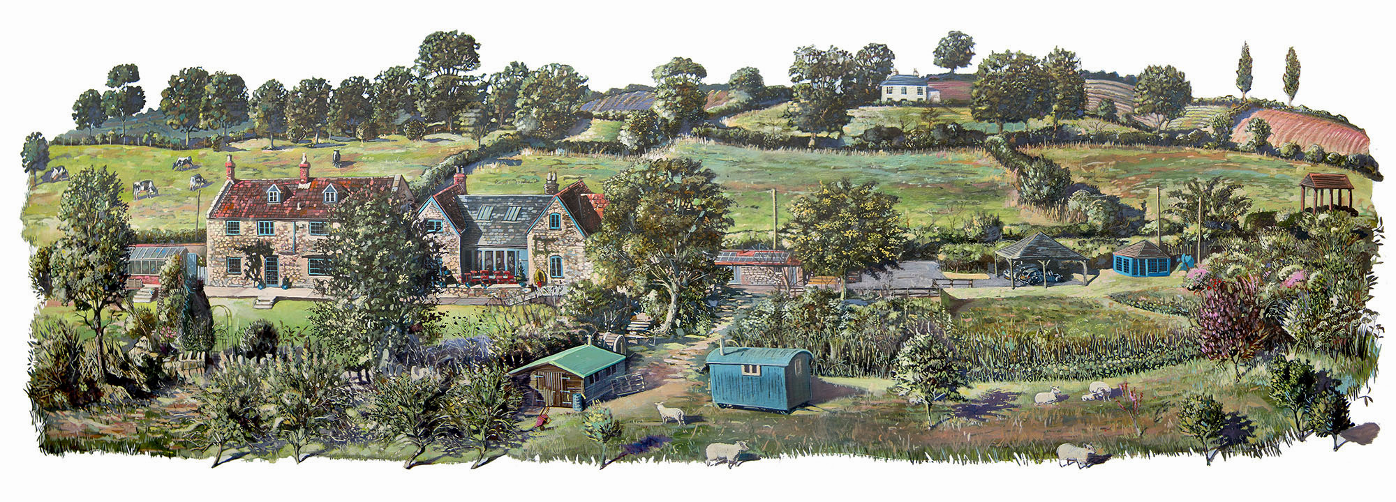 A painting of Pilton Somerset