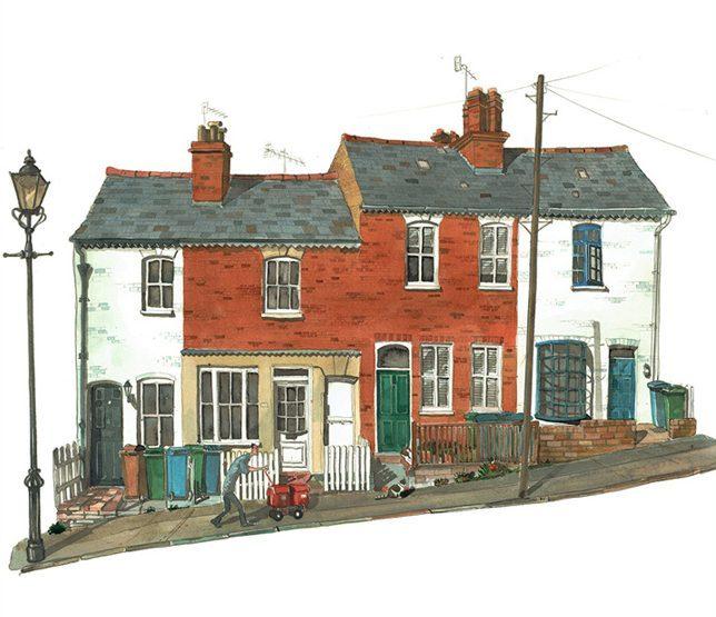 Painting of Nelson Street Harrow