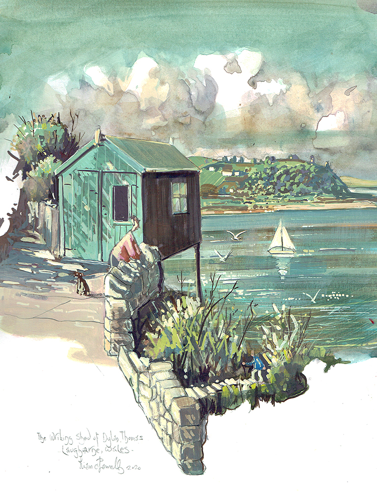 Dylan Thomas' writing shed Laugharne