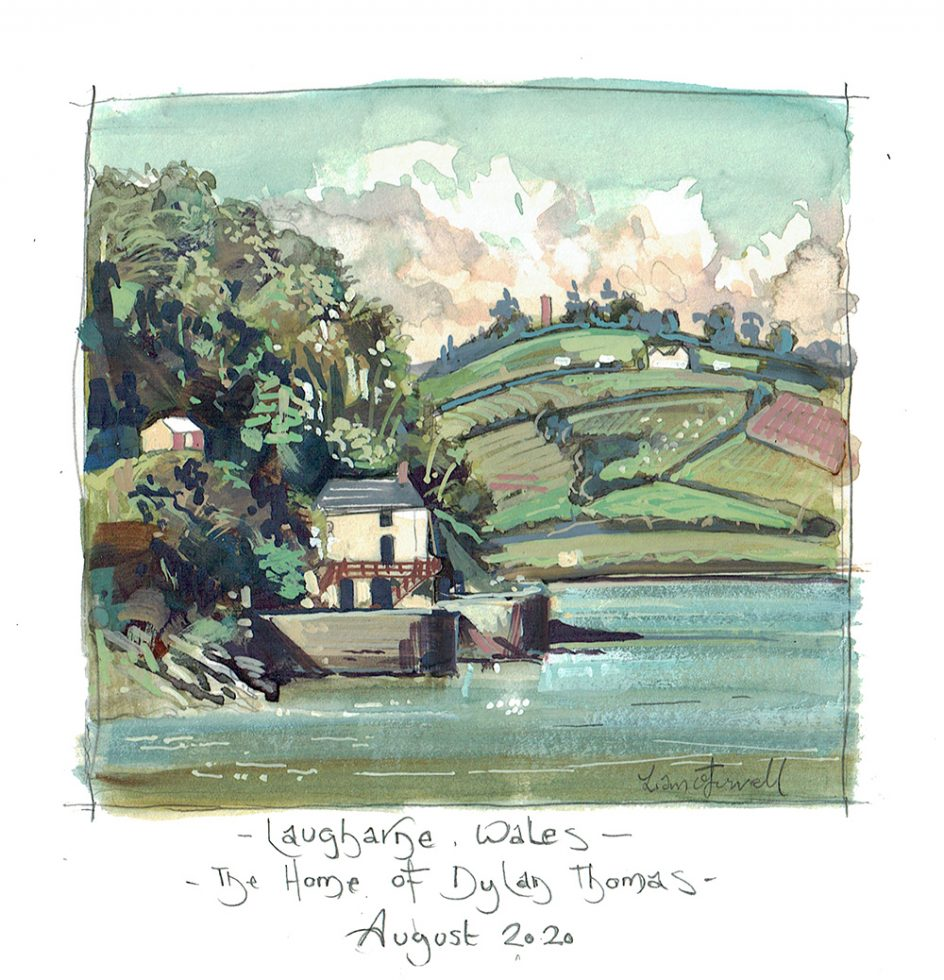 Dylan Thomas' home Laugharne