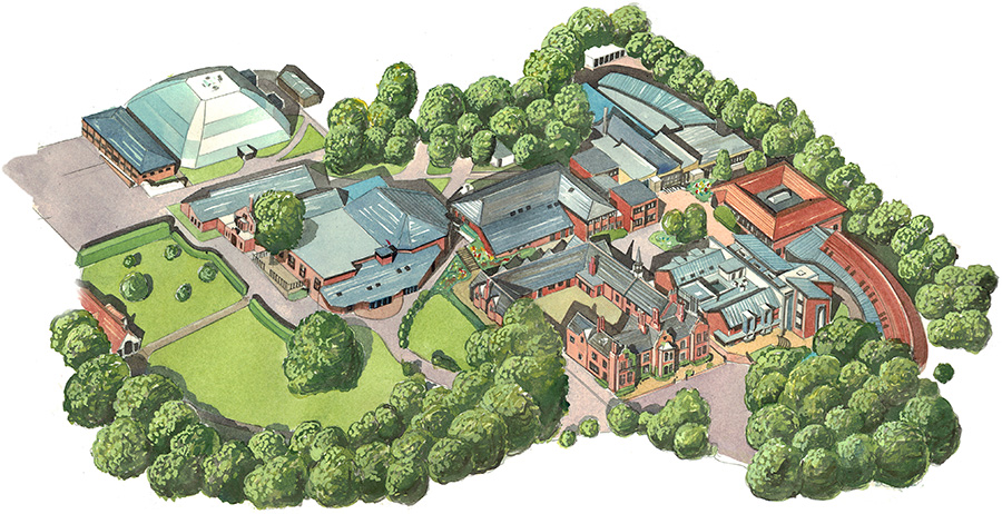 Woodbridge Main School Map Detail 1