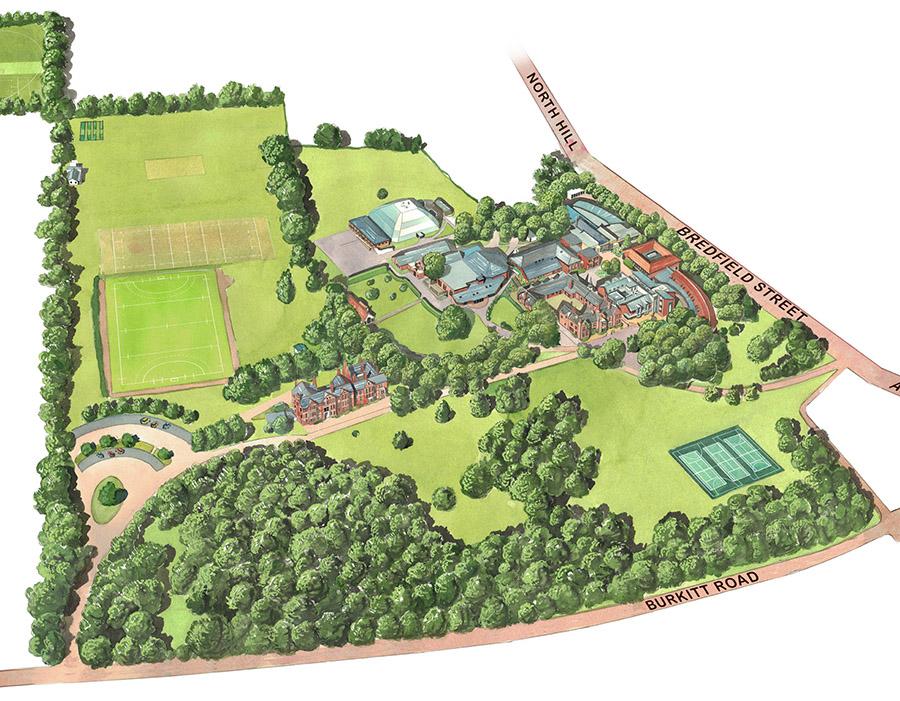 Woodbridge Main School Map