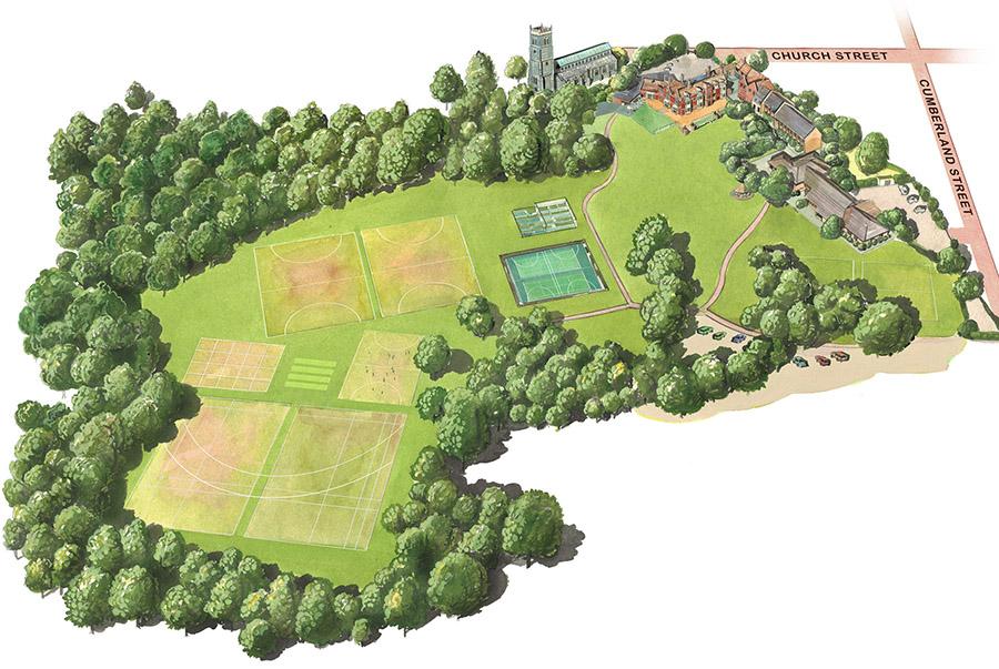 Woodbridge Prep School Map