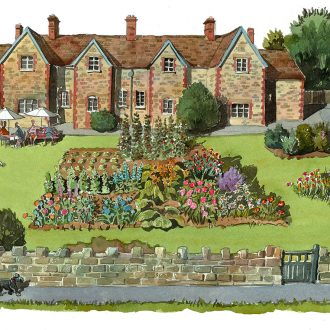 An allotment painting in Fonthill Bishop