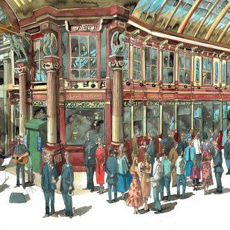 Leadenhall Market painting