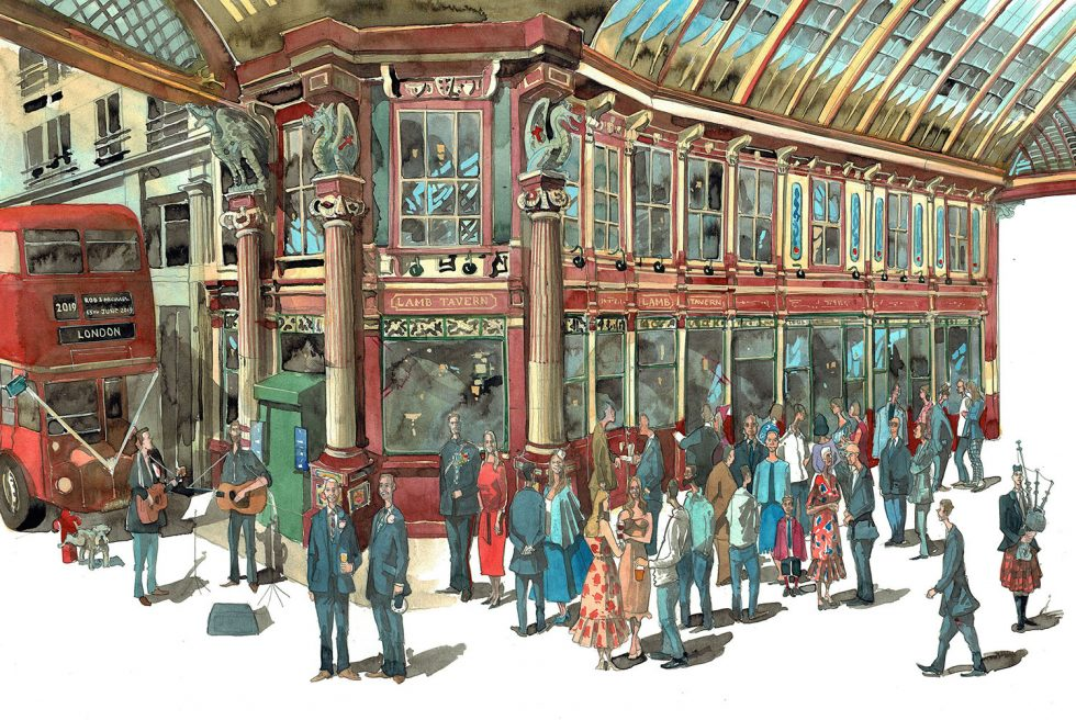 Leadenhall Market painting
