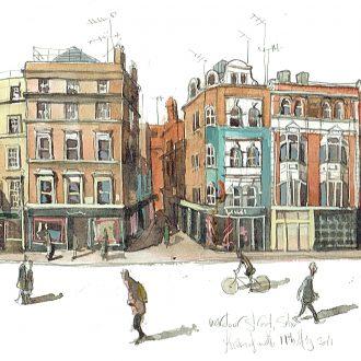 Wardour Street London painting