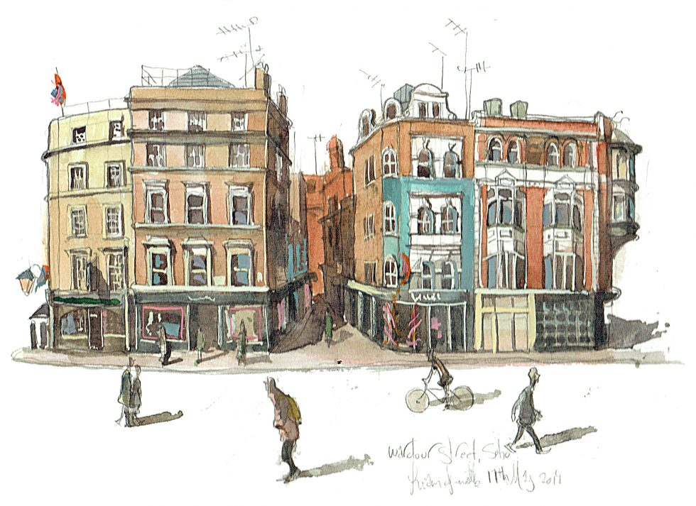 Wardour Street London painting