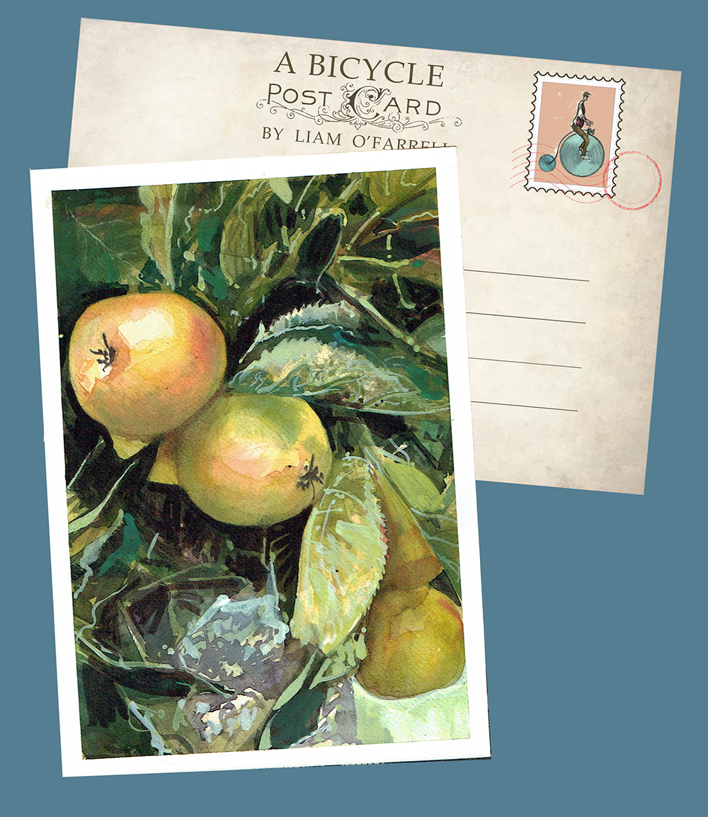 Apples in Pilton painting