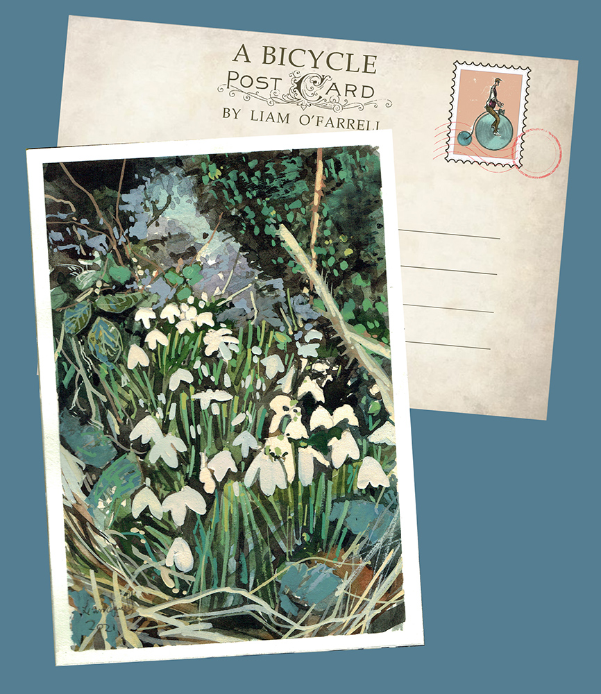 Snowdrops painting in Pylle