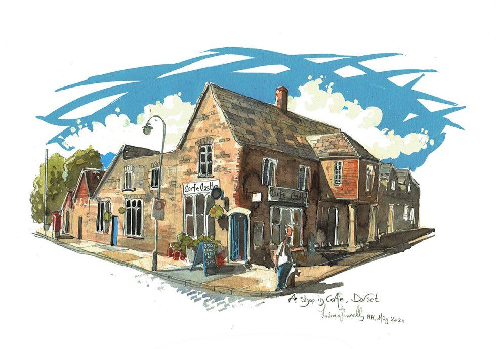 A corner shop in Corfe Village Dorset