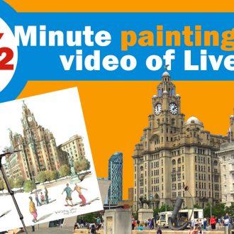 Painting video around Liverpool docks